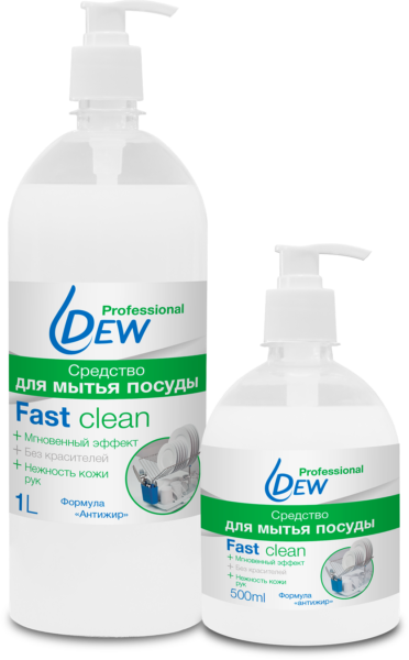 Моющее средство для посуды Dew Fast Clean